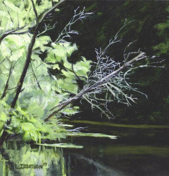 Fowler River Reflections - Oil on Masonite